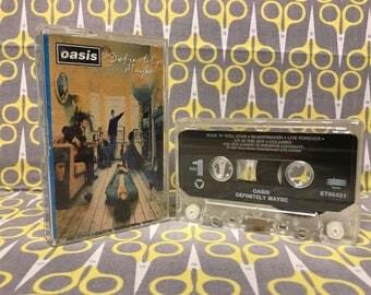 Definitely Maybe by Oasis cassette Tape rock alternative