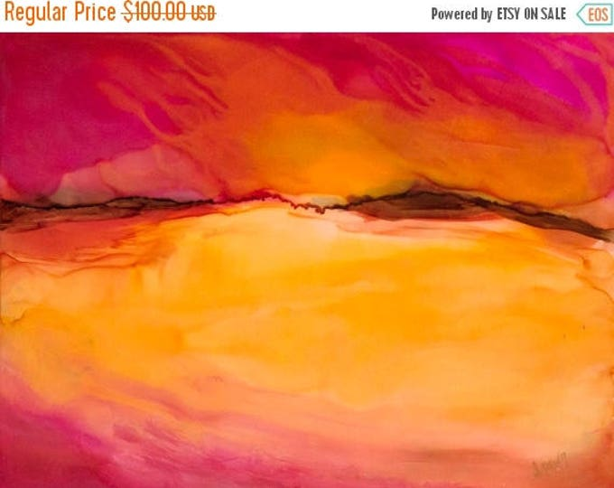 SALE Original Wall Art Painting- Dreamy Landscape Painting - Gift
