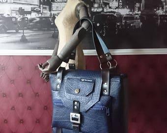 Stylish Blue Handbag