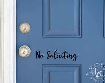 No Soliciting Vinyl Decal-Style 05