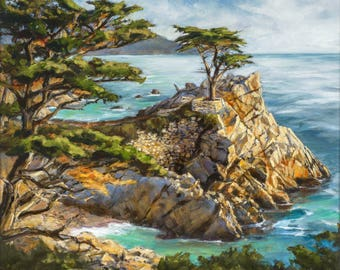 Time Stands Still,  The Lone Cypress in Pebble Beach.