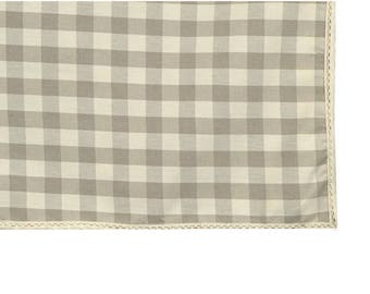 Country fabric Rectangle tablecloth ecru 150X250cm with lace