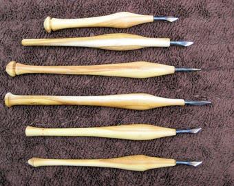 Osage orange Kolrosing knives