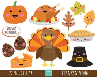 50% SALE THANKSGIVING clipart, commercial use, turkey clipart, kawaii clipart, cute graphics, thanksgiving images, FALL clipart
