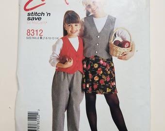 McCall's Pattern Child Size 7-14  #8312