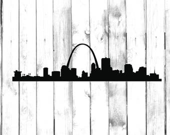St Louis Skyline - City Skyline Silhouette - Car/Truck/Home/Computer/Laptop/Phone Decal