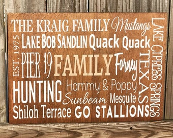 Memories Quote Sign - Family, Friendship, Love, Mr. & Mrs. - Custom colors - birch wood - hand painted - farmhouse sign - rustic wood sign