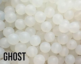 15 mm Ghost Silicone Beads 5-1,000 (aka Clear, Translucent) - Bulk Silicone Beads Wholesale - DIY Teething