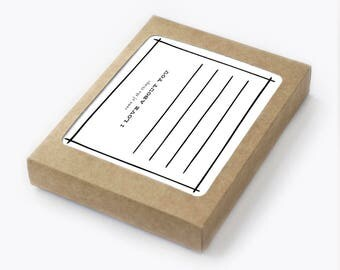List Card Set - Some of the Things I Love About You - Pack of 8