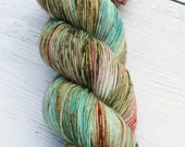 RESERVED Molly Weasley  {Macabre}  75/25 Superwash BFL - Nylon - 4 Ply -  Blue Faced Leicester - Sock Yarn - Harry Potter - Ready to Ship