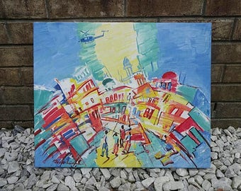 19x23 After Earthquake Abstract