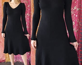 Crochet Lace Dress 70s Knit Party Shift Dress Vintage 70s Crochet Dress