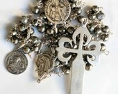 Rosary - St James Cross - Sterling Silver, Pyrite- Brother Apostles St James & John