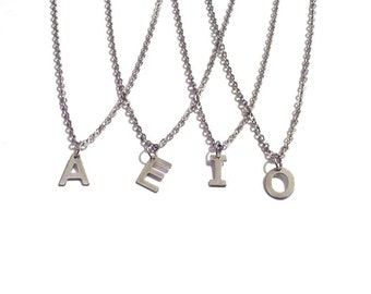 Necklaces, Letter necklace, initial necklace, Personalized jewelry, personalized necklace, bridesmaid gift, monogram jewelry