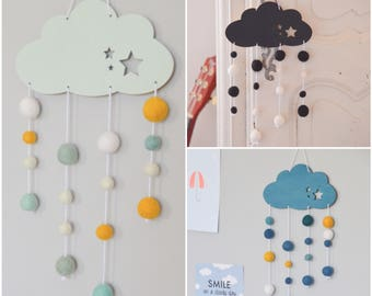The small cloud suspension, gift, birthday, mobile baby, baby suspension