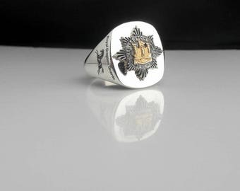 Royal Dragoon Guards Regiment Bespoke Silver Ring