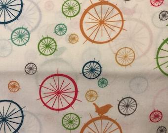 Just for Fun Birdie Spokes Multi by Jay-cyn for Birch Organic Fabric