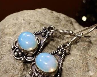 Holiday SALE 85 % OFF Opal Earrings .925 Sterling Silver Gemstone