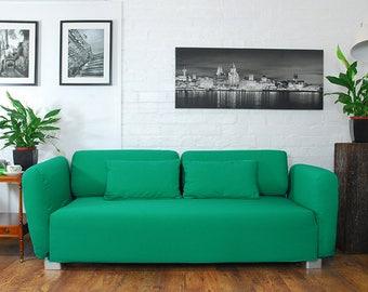 Slip cover to fit the ikea Mysinge 2 seat sofa EMERALD