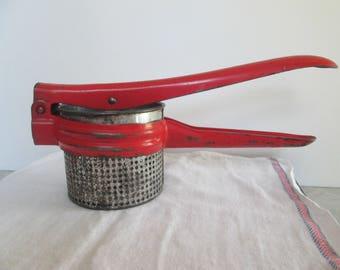 Red Handled Potato Ricer