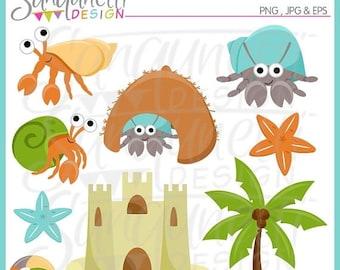 50% OFF Hermit Crab Clipart