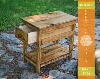 SUMMER SALE 15% OFF!! Narrow End Table, Night Stand, End Table, Table, Side Table - Early American Stain