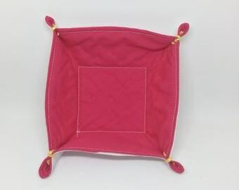Textile Trinket Tray (pink)