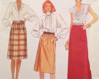 McCall's 2209 - 1980s skirt with pockets