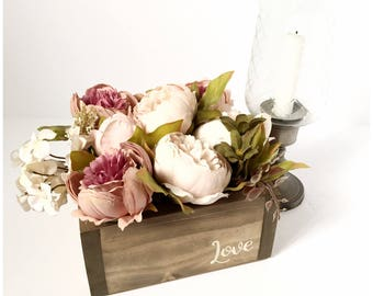 Rustic wedding planter - Wedding table names - Table numbers - Wedding table centrepiece - Wedding table ideas - Table numbers for wedding