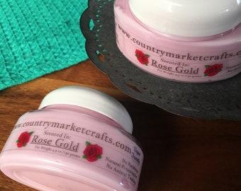 Rose Gold Body Soufflé Hand & Body Lotion Natural Handmade Rose Jam lotion - Easter Gift Easter Egg Hunt
