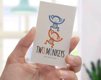MONKEY LOGO, children's logo, kids logo, PREMADE logo, logo design, Custom logo, Premade brand,