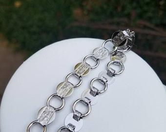 Vintage Sarah Coventry Silver Tone Stamped Flower Disc Bracelet