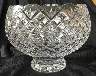 Footed Crystal Bowl Etsy