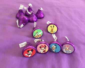 Mickey Mouse and Friends Hershey's kisses labels, envelope seals, party favors