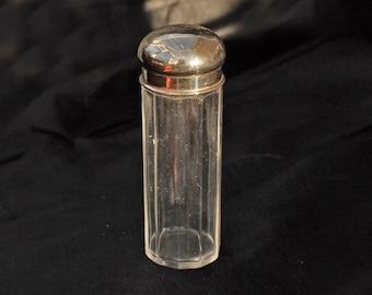 Vintage EPNS Cut Glass Vanity Jar for Dressing Table
