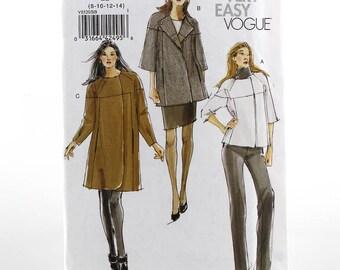 Vogue Jacket Coat Sewing Pattern, Uncut Sewing Pattern, Vogue V8520, Size 8-14