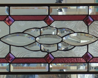 Stained Glass Window Hanging 35 X 11 1/4