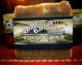 Witching Hour Soap, Astringent Bar Soap, Witch Hazel,  100% Homemade, Vegan, Palm Free, Great Gift for Him or Her, Cold Processed