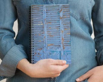 Notebook, journal for journaling, spiral notebook, spiritual journaling, Blue door journal, journal for spiritual writing,