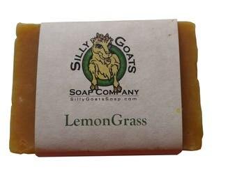 Lemongrass Goat Milk Soap, Lemongrass Soap, Goat Milk Soap,