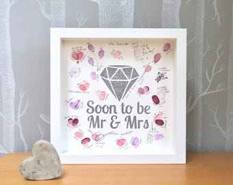Engagement gift. Engagement party guest book. Party guest book. Engaged guest book. Wedding engagement. Mr & Mrs to be.