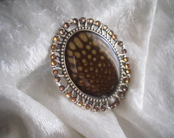 large silver / copper Brown, for creating jewelry, pendant