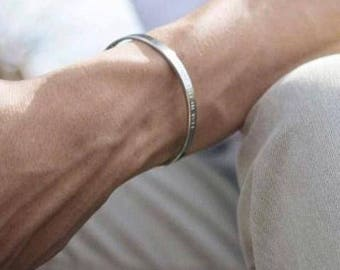 groomsmen gifts Husband Gift Boyfriend Gift for boyfriend gifts for brother anniversary Gifts For Boyfriend personalised Bracelet cuff