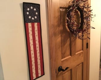 Patriotic Flag/ Americana Decor / Country Decor/ Quilted Table Runner / 4th of July / Item # 2119