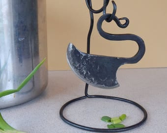 Forged Herb Chopper Knife With Stand