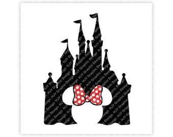 Disney, Castle, Bow, Mickey, Minnie, Mouse, Head, Ears, Digital, Download, TShirt, Cut File, SVG, Iron on, Transfer