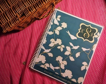 9*BALANCE:  Personalized 16 Month Calendar/Planner/ Agenda, Folder/Jacket, Year-at-a-Glance, Agenda, Start on Month of Choice