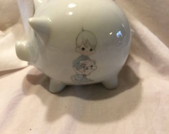 Enesco Precious Moments Piggy Bank 1986