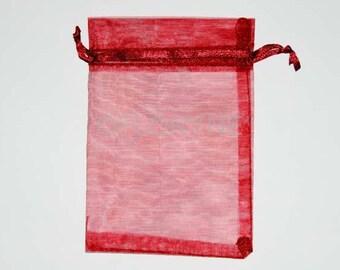 Clutch bag 20 Red 10 X 12 Cm organza bags