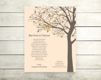Godparents Baptism Gift Godparents Gifts Personalized Gift For Godparents Christening Gift from Godchild Baptism Keepsake- 52577